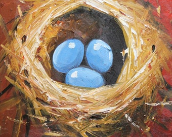 Commission your own Nest custom portrait oil Painting by Roz