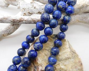 Pearls round lapis lazuli stone semi precious different dimensions