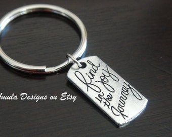 Antique Silver Find Joy in the Journey Key Chain