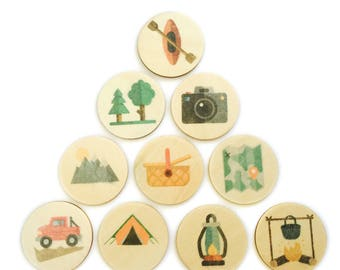 camping - story tellers / story stones | my little set | wooden game | story stones | memory match |