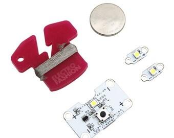 Electro-Fashion, Flasher Controller, LEDs & Thread e textiles conductive thread 2719