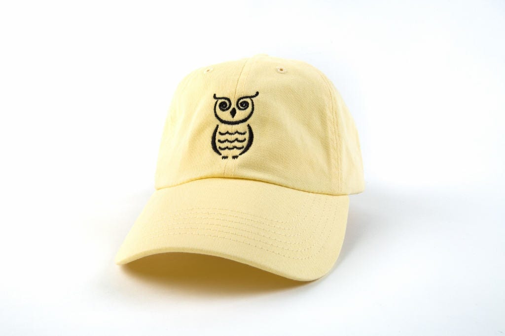 Owl Hat Owl Dad Hat Owl Baseball Cap Embroidered Baseball 38f1c0b3d6d