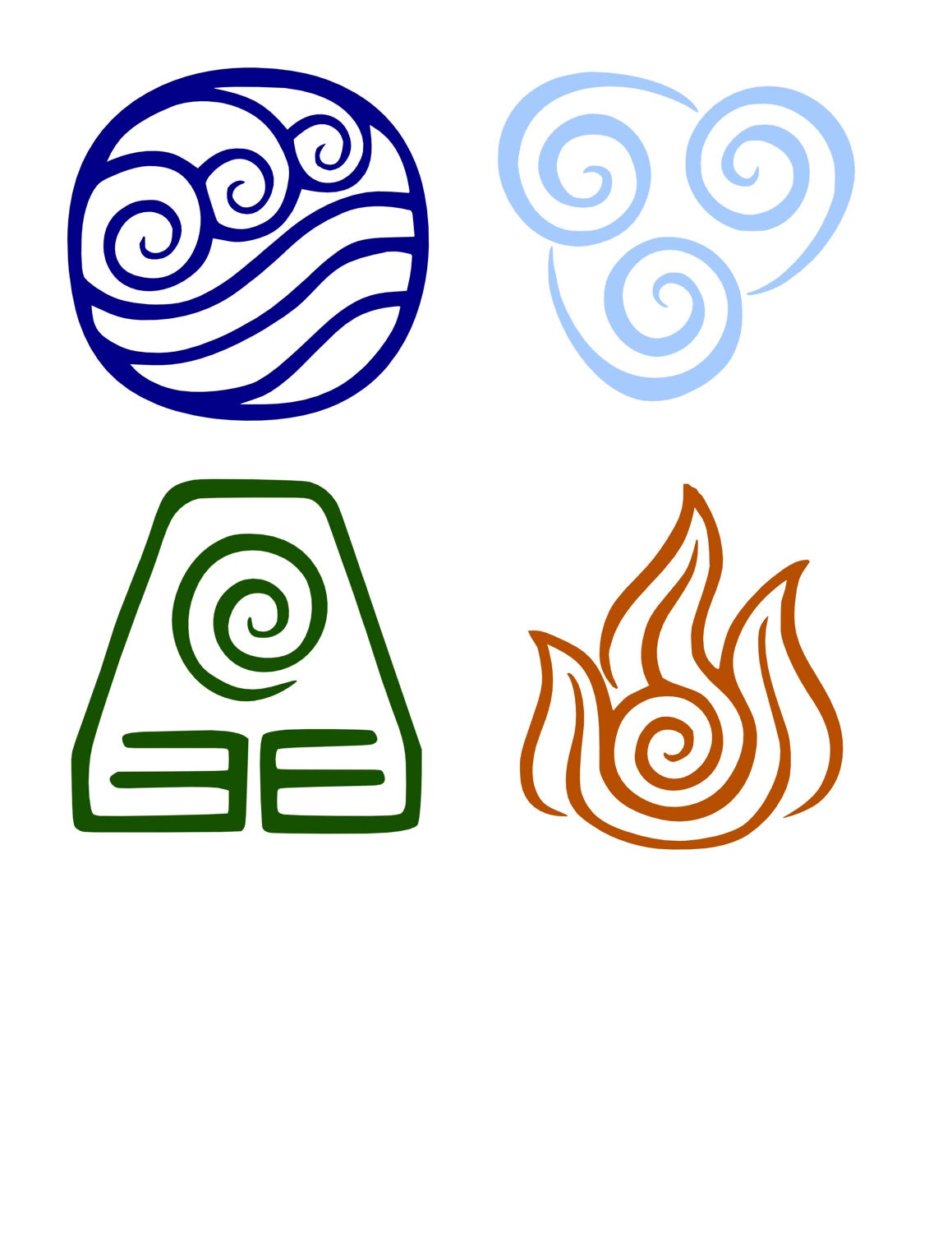 Avatar the last airbender the four elements avatar decal zoom buycottarizona Gallery