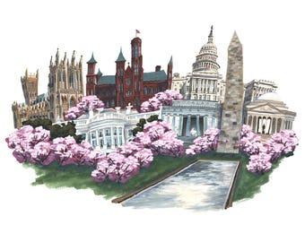 Washington, DC Collage Print