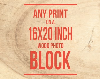 Wood Home Decor, Print on Birch, Ready to Hang, Mounted Photograph - 16x20 inches, Wood Photo Blocks, Rustic Decor, Art Print, Photo on Wood