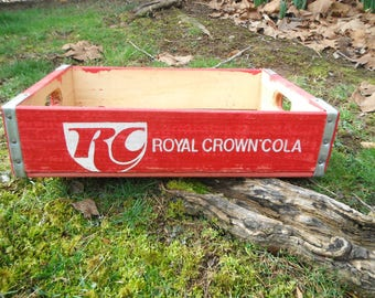 Vintage RC Royal Crown Soda Crate - Extra Clean - West Jefferson NC - Boone