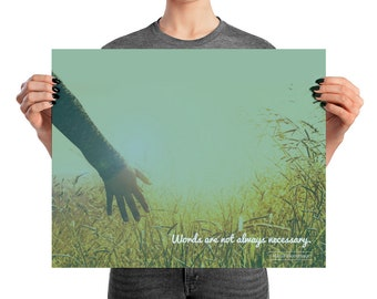 """Poster - Montessori quote - """"Words are not always necessary."""""""