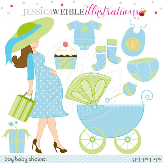 Awesome Boy Baby Shower Cute Digital Clipart   Commercial Use OK   Baby Shower  Clipart, Baby Carriage, Pregnant Woman Clipart From JWIllustrations On Etsy  Studio