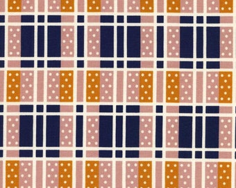 2 Yard Cut - Lucky Strikes for Cotton + Steel - Domino Plaid Navy