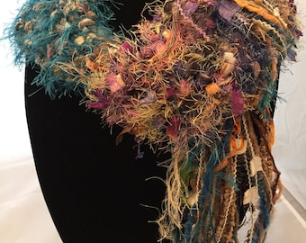 WIDE! Scarf Lariat with Multiple Colors and Textures!