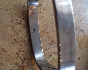 Vintage Sterling Silver Bracelet, Sleek and Modern