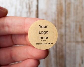 1 inch circle brown kraft paper - sticker printing