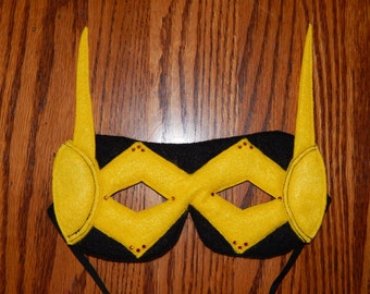 Inspired by Wasp or Yellow Jacket Felt Superhero Mask Costume Accessory - Any Size Available