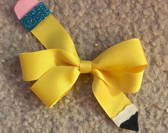 Pencil pinwheel bow