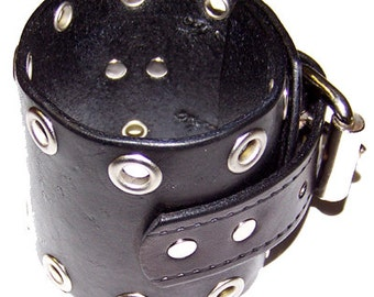 Item 092612 The Pawn Star Belted Leather Wrist Cuff Bracelet
