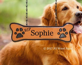 Dogbone Addon - Carved Camper Sign Sign Addon - Dogbone with Pawprints JG Wood Signs Etsy Carved Camping Sign Sophie
