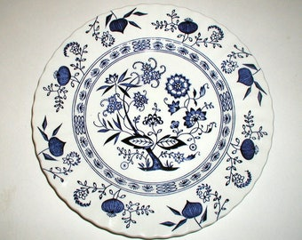 Vintage Meakin Blue Nordic Dinner Plate English Ironstone Floral Transferware Blue Onion Pattern