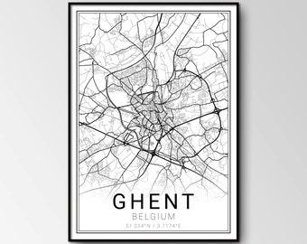 Ghent city map