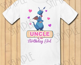 Disney Doc McStuffins Uncle of the Birthday Girl INSTANT DOWNLOAD Personalized Matching birthday party shirts Iron on transfer Printable