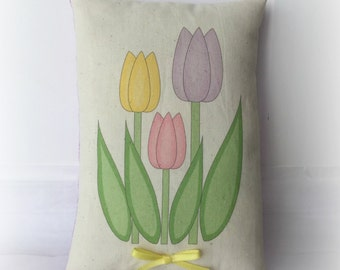 Spring Tulip pillow