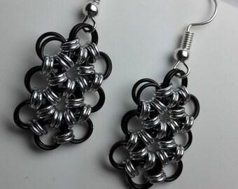 Earrings Black/Silver
