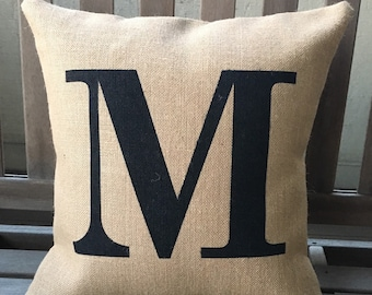 Custom Letter/Number Pillow, Initial pillow, Gift Pillow, Wedding Gift, Birthday Gift, House warming, mother's day *SHIPS Within 3 DAYS!
