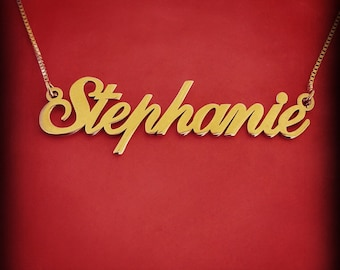 10k Gold Name Necklace 10 ct Gold Name Necklace Gold Chain Name 10 Karat Gold Name Necklace 10 ct Gold Name Necklace Naam Ketting
