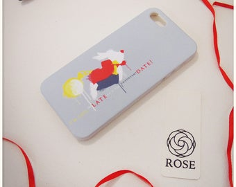 Phone Case iPhone SE - White Rabbit / I'm late for a very important date / Alice in Wonderland