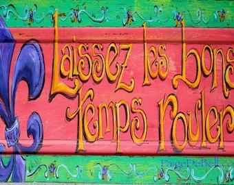 """Laissez Les Bons Temps Rouler** 11"""" x17"""" Print of my Original Mardi Gras painting New Orleans artist, Paige DeBell"""