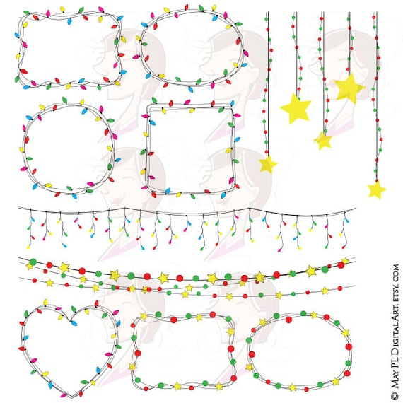 Items Similar To Christmas String Lights Png Clipart Fairy