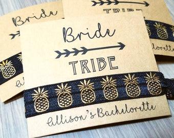 Bride Tribe Hair Tie Favors | Bachelorette Party Favors | Bridesmaid Gifts and Favors | Gifts and Momentos | Pineapple Bachelorette Party