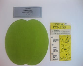 Elbow Patches - Lime Green Ultrasuede - Set of 2