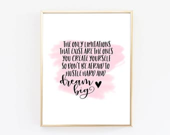 Office Decor - Inspirational Quotes - Quote Prints - Motivational Quotes - Typography Print