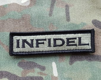 """INFIDEL Ranger Green And Black Morale Patch 1""""x3.5 Multicam Compatible"""