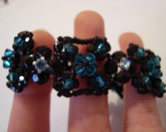 Bracelet black and blue
