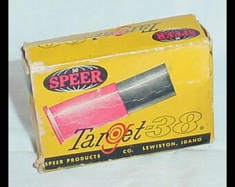Vintage Speer Target 38 Empty Bullet Box