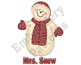 Mrs. Snow - Machine Embroidery Design