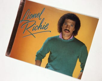 Vintage Lionel Richie Notebook. Upcycled Record Book. Handmade Lionel Richie Music notebook. Upcycled Record Notebook. Lionel Richie Record