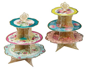 Truly Scrumptious Cake Stand,  Vintage Floral Design, Tea Party, Birthday, Baby Shower, Bridal Shower, Wedding, Engagement, Tableware