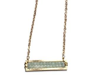 Bar Necklace / Bead Necklace / Minimalist Jewelry / Layering / Boho / Hippie / Yoga / Jewelry / Necklace