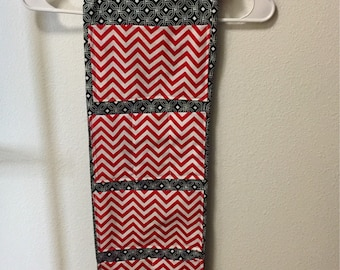 Handmade blue and white background and red and white pockets locker organizer/ locker caddy