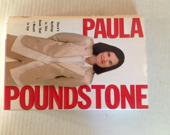 Paula Poundstone Signed There's Nothing in this Book that I Meant to Say Autographed Hardback
