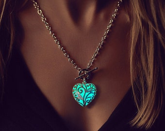 Glow in the Dark Necklace - Womens Gift - Best Friend Gift - Gift for Girlfriend - Wife Gift - Anniversary Gifts for Women - Turquoise