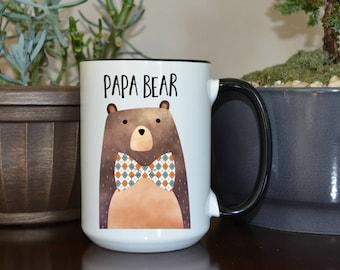 Home and Living, Kitchen and Dining, Drink and Barware, Drinkware, Mugs, Papa Bear, Papa Bear Mug