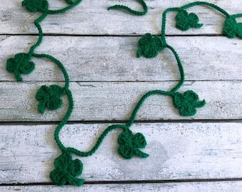 Crochet - St Patrick's Day Garland - Shamrock Garland - Paddy Green
