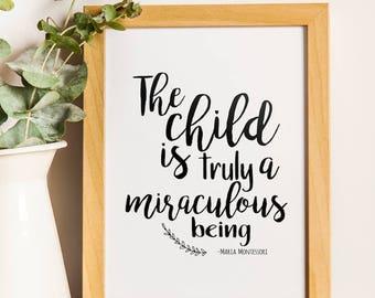 Digital Maria Montessori Quote Prints