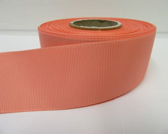 Grosgrain Ribbon 3mm 6mm 10mm 16mm 22mm 38mm 50mm Rolls, Coral Pink, 2, 10, 20 or 50 metres, Ribbed Double sided,