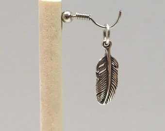 925 Sterling Silver Feather Charm, Feather Charm