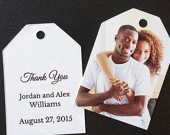 Wedding Favor Tags with Photo and Custom Message (Ticket Tags)