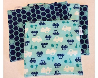 Organic cloth wipes, baby washcloths, organic bamboo, car washcloth, flannel baby wipe, organic cloth wipe, car and truck baby